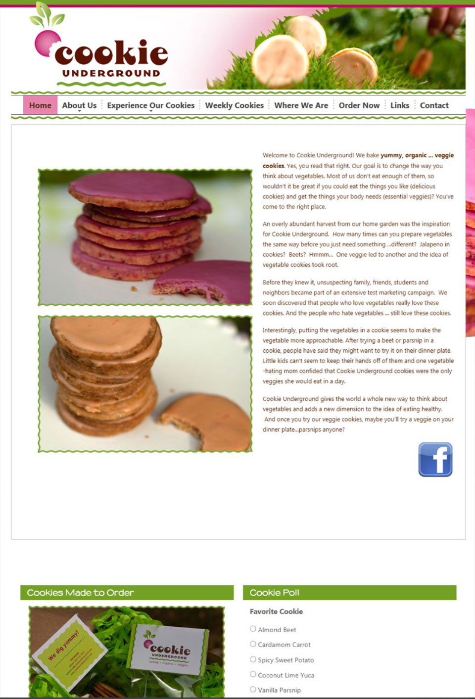 The Cookie Underground Website Design