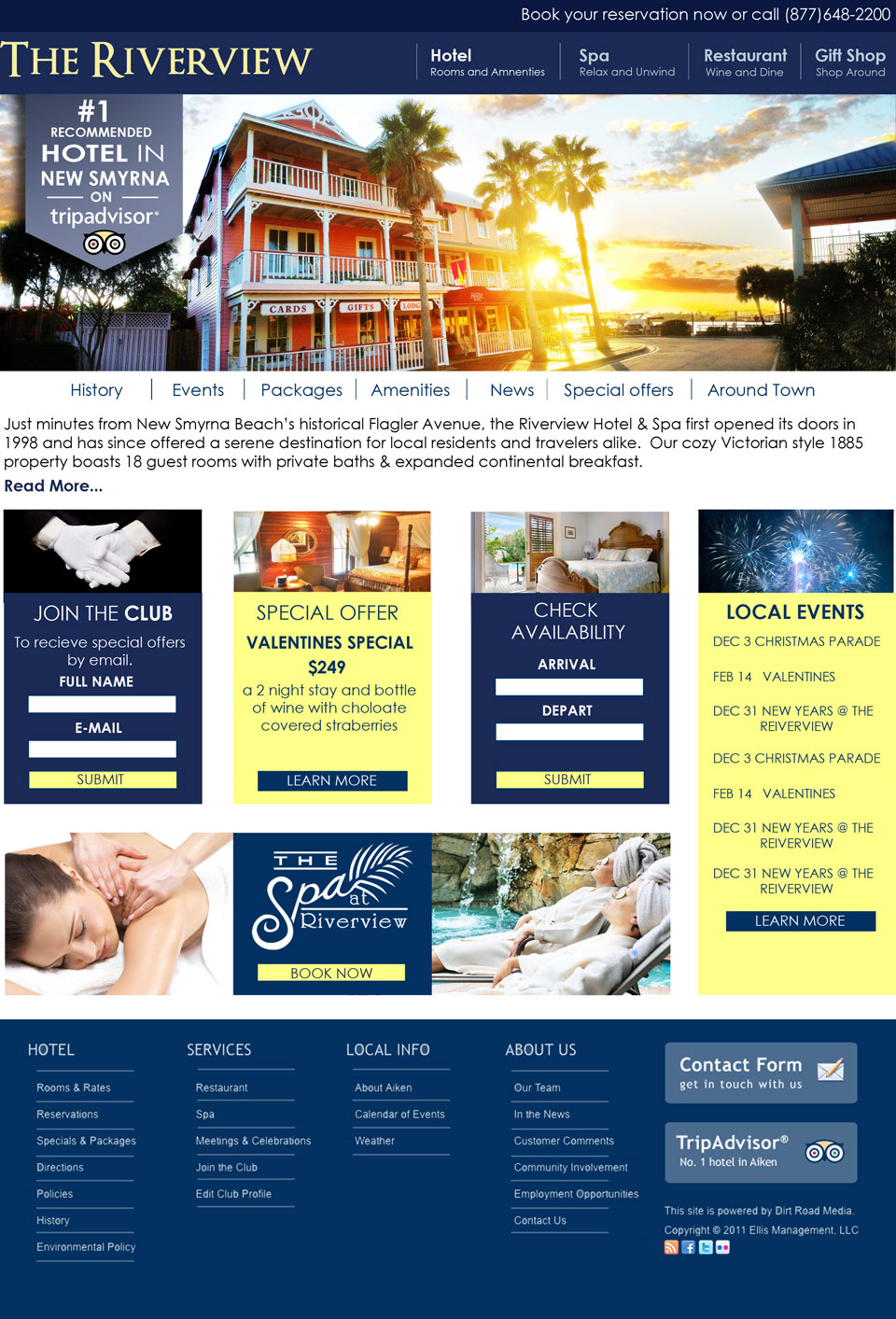 …in the spot light at Daytona Beach Website Design
