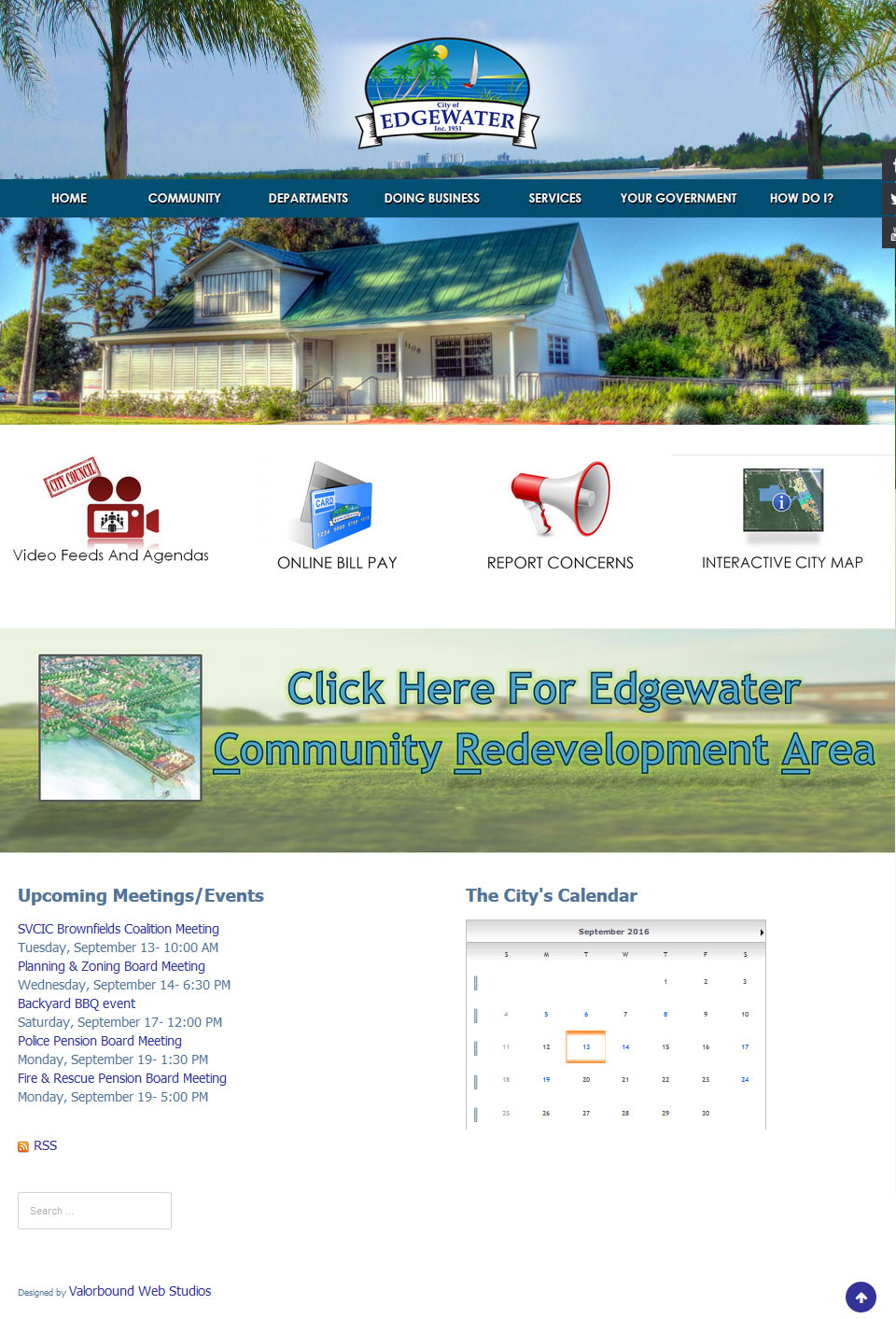 City of Edgewater Website Design
