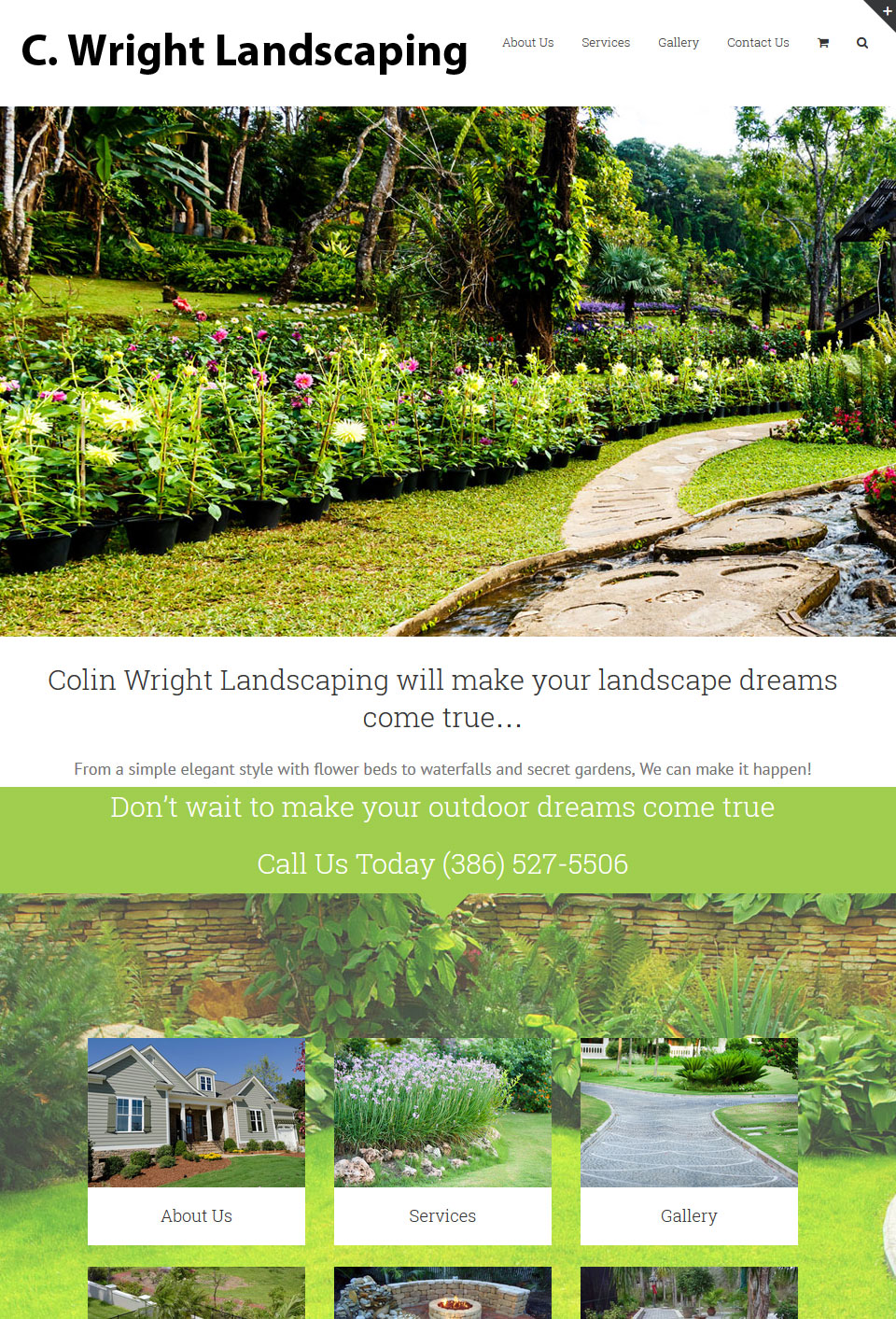 CWright Landscaping Website Design