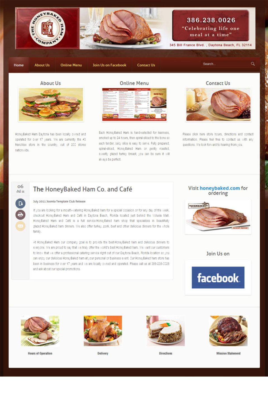 Honey Baked Ham Website Design